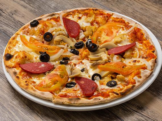 Pizza con salami