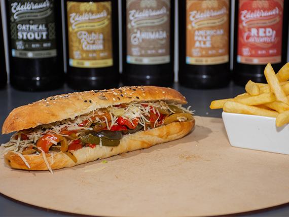 Sándwich de vegetales y queso