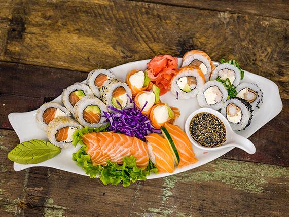Combinado de salmón premium - 20 piezas