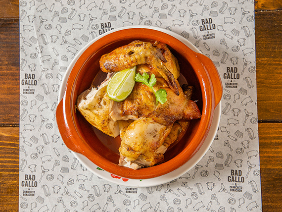 Pollo asado (media porción)