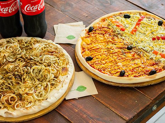 Promo noche - Fugazzeta + Pizza del Cheff + 2 bebidas 1.5 L