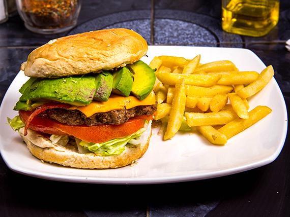 Hamburguesa bacon y avocado