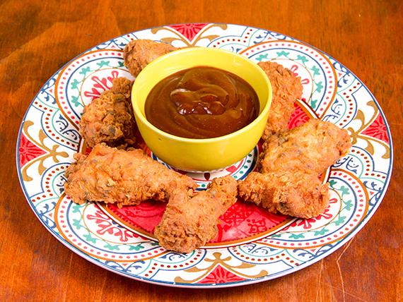 Alitas de pollo barbecue (6 unidades)