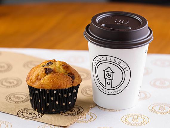 Promoción desayuno - Café + muffin