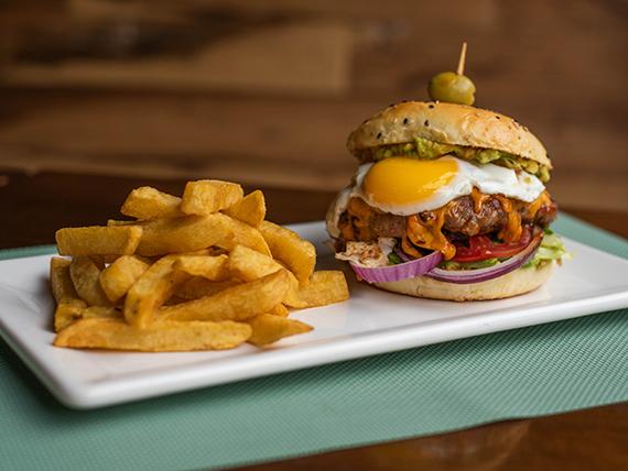 Sándwich de hamburguesa a la barbacoa