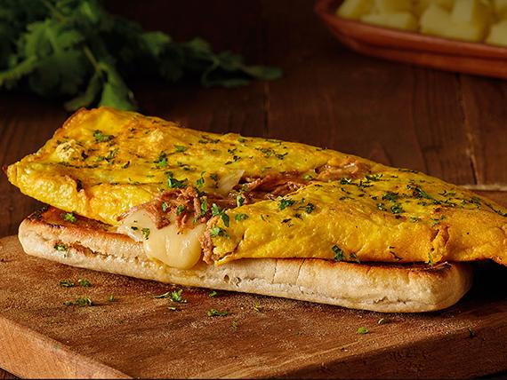 Desayuno - Omelette con queso