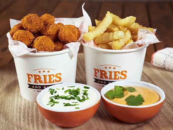 Promo 3 - Chicken Bites + papas + bebida 500 ml