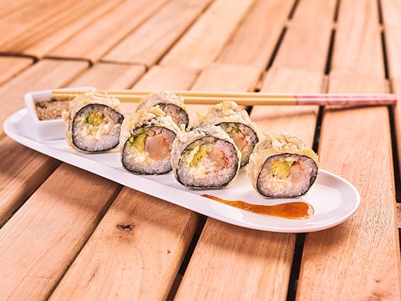 Roll maki tempura  (9 piezas)