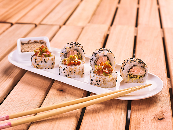Roll home tempura (9 piezas)