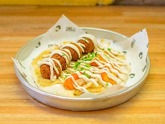 Pita de falafel