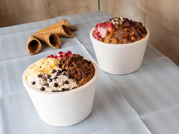 Promoción 3 - 2 kg de helado + 4 cucuruchos de regalo