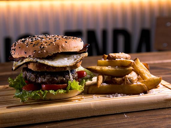 VBB burger con papas rústicas