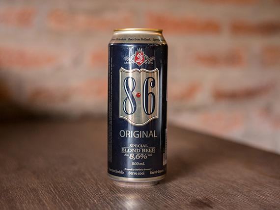 Cerveza 8.6 original en lata 500 ml