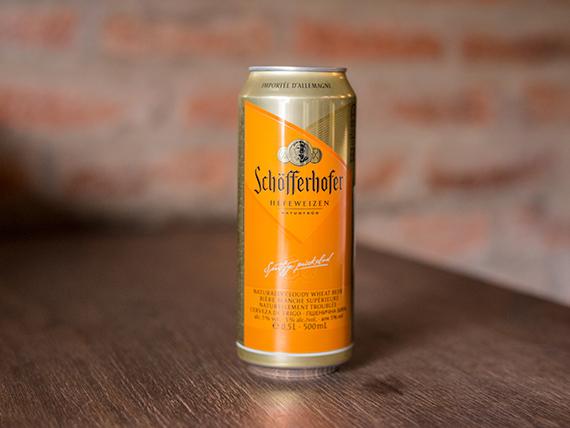 Cerveza Schofferhofer en lata 500 ml