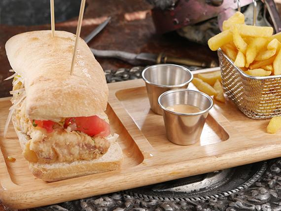 Sándwich de merluza