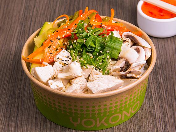 Hot gohan pollo