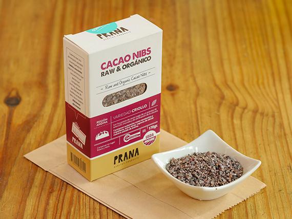 Cacao Nibs orgánico Prana 170 gr