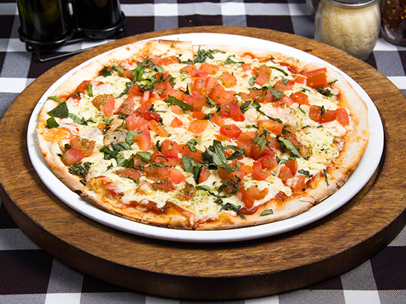 Pizza margherita (8 porciones)