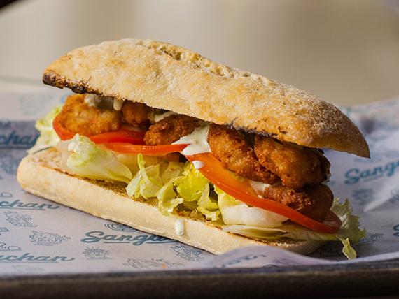 Combo - Sándwich de langostinos rebozados