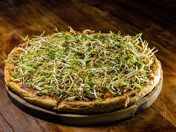 Pizza thai con hambre
