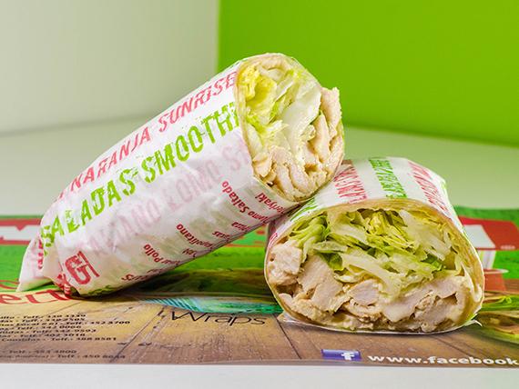 Wrap César con pollo