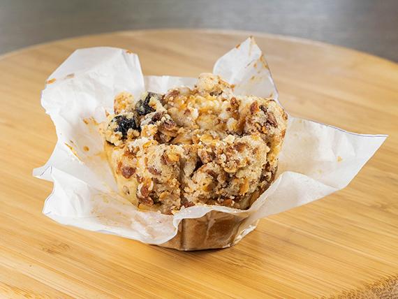 Muffin de manzana con granola