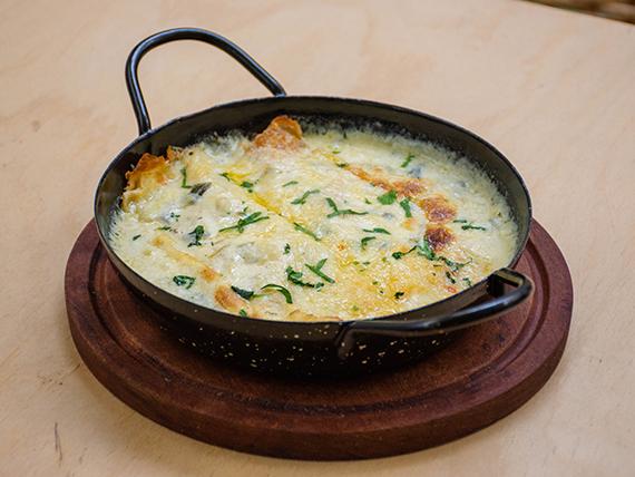 Crepes de espinaca y queso