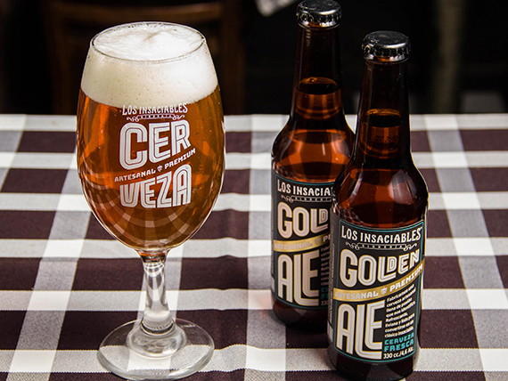 2 cervezas Golden Ale 330 ml