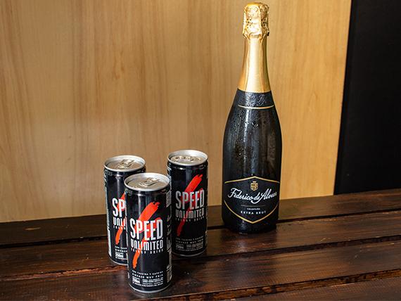 Combo 12 - Champagne Federico de Alvear extra brut 750 ml + 3 energizantes Speed
