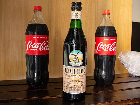 Combo 1 - Fernet Branca 750 ml + 2 Coca Cola 1.5 L + hielo 2 kg