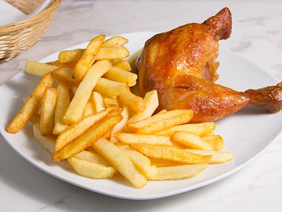 Combo 1 - 1/4 pollo con papas fritas