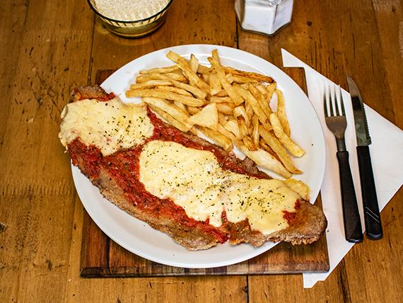 Promoción - Milanesa napoitana al plato + papas fritas caseras + bebida