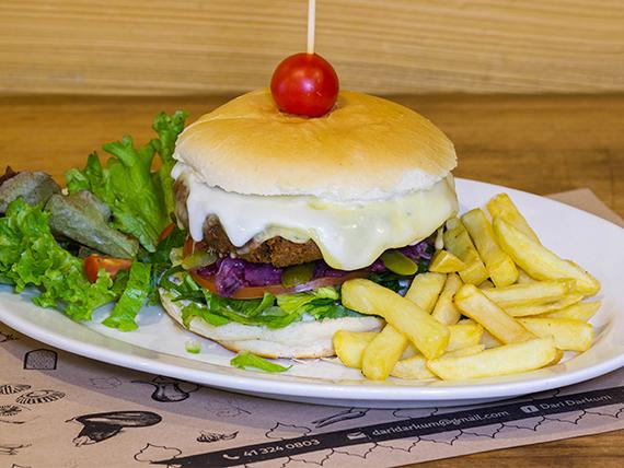 Burger clásica falafel