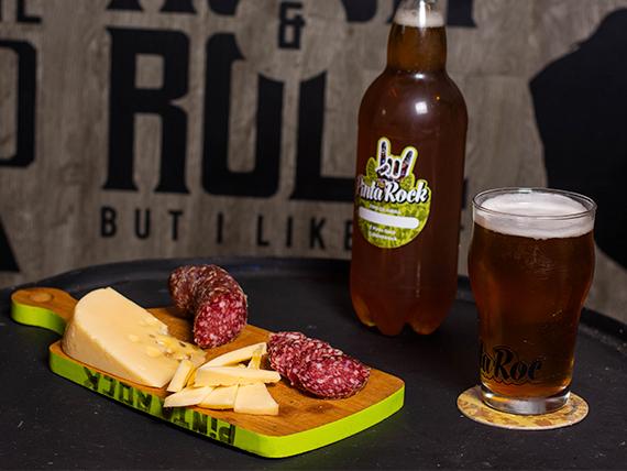 Combo - Salamín + queso + cerveza artesanal 2 L
