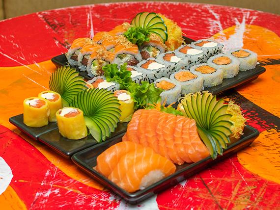 Combinado SushiClub - 45 piezas (incluye 2 blister de soja y 2 palitos)
