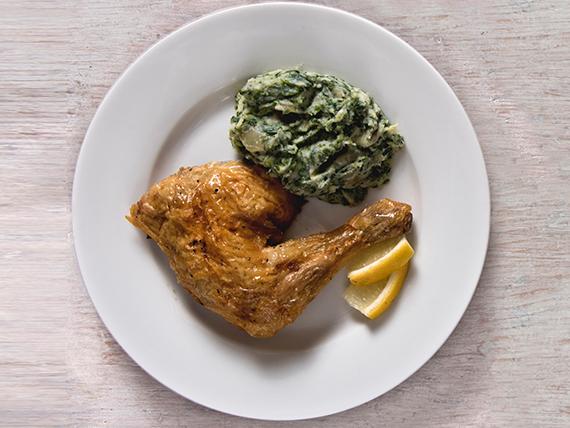 Muslo de pollo al spiedo