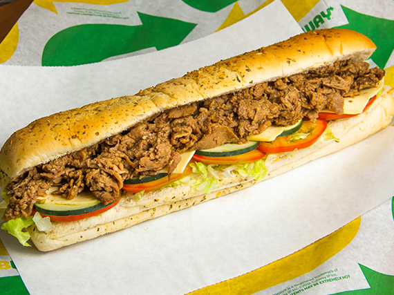 Subway de carne y queso (30 cm)
