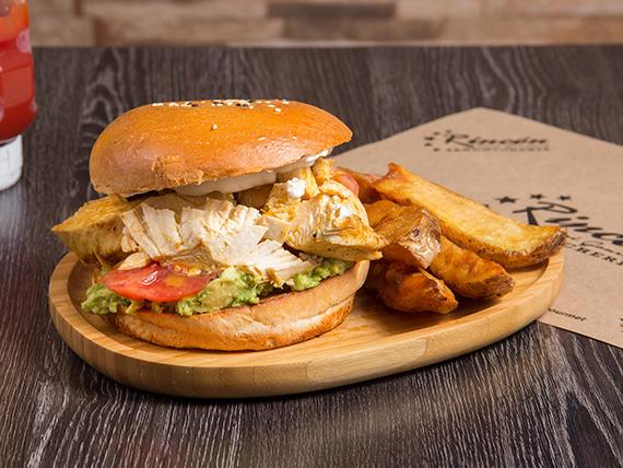 Sándwich de pollo dinámico