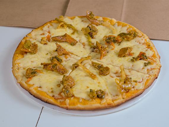 Pizzeta con hongos shitake
