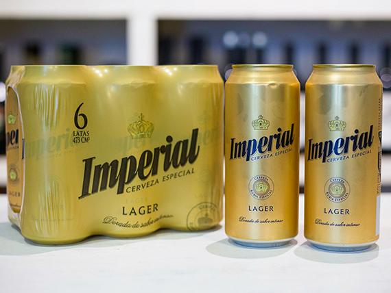 Promo - 8 latas de cerveza Imperial lager 500 ml