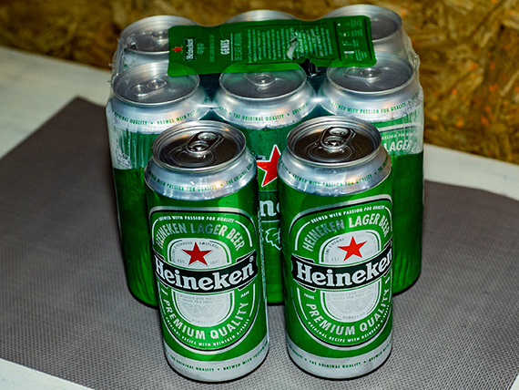 Promo - 8 latas de cerveza Heineken 500 ml