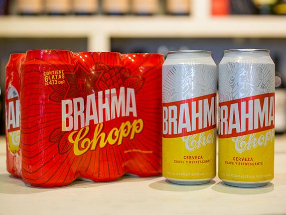 Promo - 8 latas de cerveza Brahma 500 ml