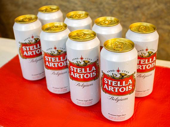 Promo - 8 latas de cerveza Stella Artois 500 ml