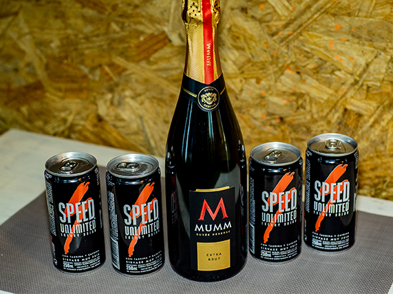 Promo - Champagne Mumm 750 ml + 4 Speed