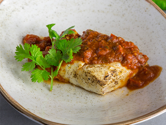 Corvina en salsa marroquí
