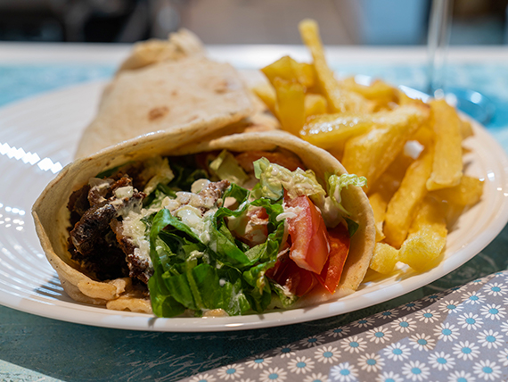 Promo - Shawarma + papas fritas + bebida 600 ml