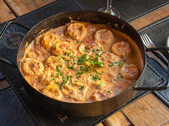 Sorrentinos de jamón, muzzarella y parmesano