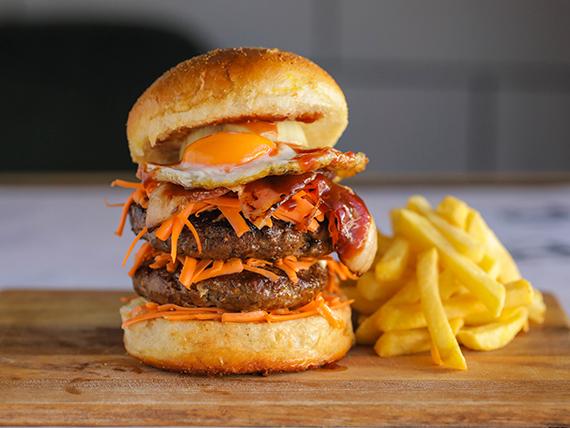 Viggoburger con guarnición