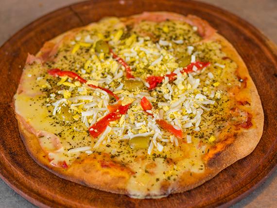 Pizza con especial con huevo