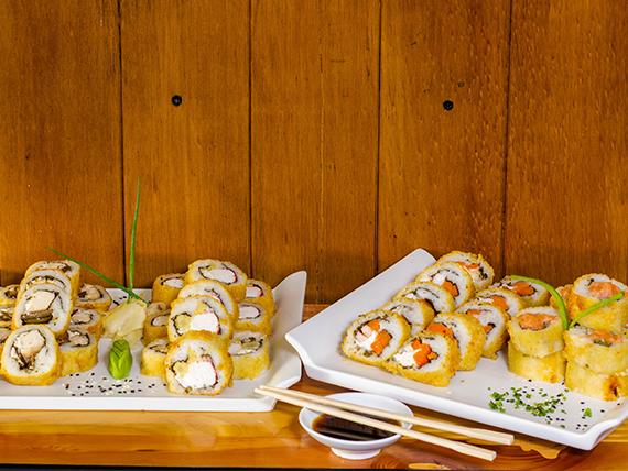 Promo sushi 3 - 40 cortes panko surtidos